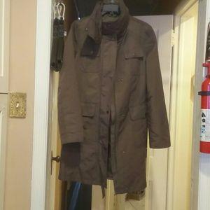 ELLEN TRACY lightweight belted long coat